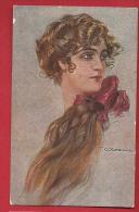 PBE-17 Illustratore Illustrateur Corbella Jeune Femme Mode Donna   Verificato Per Censura Militare 1918 - Corbella, T.