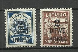 LETTLAND Latvia 1920 Michel 58 - 59 * - Lettland