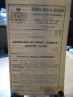 ITINERAIRE TCB N°37 COMBLAI-AU-PONT, DURBUY, HOUYET, GIVET - Cartes