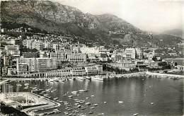 MONTECARLO. AMPIA VEDUTA DELLA CITTA' E DEL PORTO. CARTOLINA VIAGGIATA 1962 - Postales