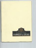 Marne. Champagne Pommery Et Greno à Reims,petit Fascicule De 54 Pages Sur L'histoire Du Champagne Et  La Maison Pommery - Gastronomie