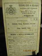 ITINERAIRE TCB N°54 A: ANDENNE, CINEY, ROCHEFORT, GRUPONT B: CINEY, SPONTIN, YVOIR - Cartes