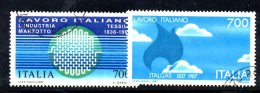 W1455 - Italia 1987 - Serie Lavoro Italiano N. 1792/1793 - 6. 1946-.. Repubblica