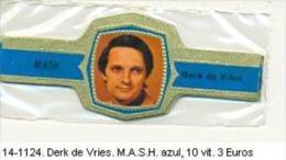 14-1124. Vitolas Derk De Vries. M.A.S.H. Azul - Bagues De Cigares