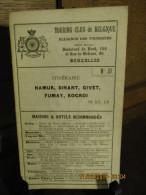 ITINERAIRE TCB N°57 NAMUR, DINANT, GIVET, FUMAY, ROCROI - Cartes