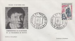 Enveloppe  Hommage  à  Nicéphore   NIEPCE     ROUEN    1966 - Fotografie