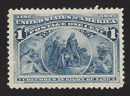 US #230 Deep Blue Mint NG 1893 VF SCV $15 - Unused Stamps