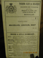 ITINERAIRE TCB N°1 BRUXELLES, LOUVAIN, DIEST - Cartes