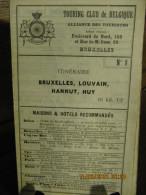 ITINERAIRE TCB N°8 BRUXELLES, LOUVAIN, HANNUT, HUY - Cartes