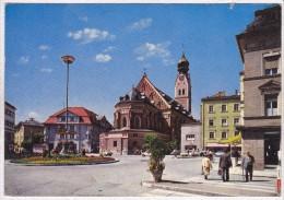 Rosenheim, Ludwigplatz Mit St. Nikolauskirche - Rosenheim