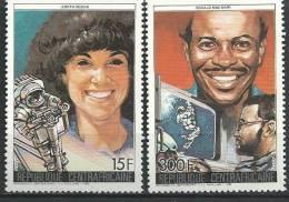 """Centrafrique YT 752 Et 753 """" Navette Challenger """" 1986 Neuf** - Centrafricaine (République)"""
