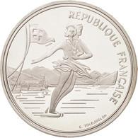 France, Albertville, 100 Francs, 1989, Ice Skating Couple, FDC, KM:972 - France