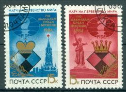 Sowjetunion 5431/32 O Schach-WM - Usati