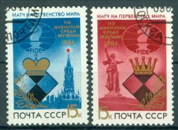 Sowjetunion 5431/32 O Schach-WM - 1923-1991 USSR