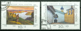 Sowjetunion 6154/55 O Gemälde - 1923-1991 USSR