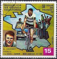 Equatorial Guinea 1973 - Tour De France : Bernard Thevenet ( Mi 264 - YT Pa19.1 ) Airmail - Cycling