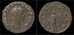 Claudius II Gothicus Billon Antoninianus Salus Standing Left - 5. L'Anarchie Militaire (235 à 284)
