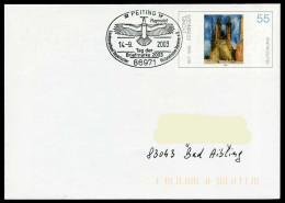 37231) BRD - Ganzsache USo 45 - SoST In 86971 PEITING Vom 14.09.2003 - Tag Der Briefmarke, Flugmodell - BRD