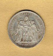 5 Francs Hercule 1873 A - J. 5 Francs