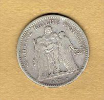 5 Francs Hercule 1849 A - J. 5 Francs