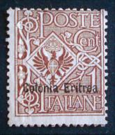 COLONIE ITALIENNE - SURCHARGE 1896/99 - NEUF * - YT 12 - MI 12 - Erythrée