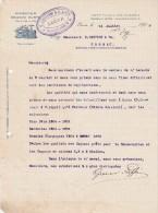 Lettre 1907 GRAZIANI & V LIPPI Rappresentanze Graziani Olinto LUCCA - Italie