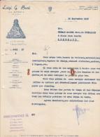 Lettre 1938 Luigi Di Brosi LA SPEZIA - Achat Bateaux : Voiliers, Vapeurs Etc - Italia