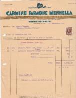 Facture 1934 - Carmine Faraone Mennella Graines Potagères TORRE Del GRECO Près Naples Timbre Fiscal - Italie