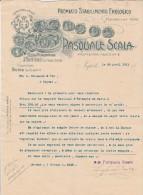Lettre 1911 PASQUALE SCALA Premiato Stabilimento Enologico NAPOLI - Italie