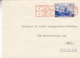 Croix Rouge - Belgique - Lettre De 1938 - Cachet Spécial Croix Rouge - Avions - Familles Royales - Roi Léopold III - Cruz Roja