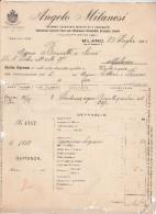 Facture 28/8/1913 ANGELO MILANESI Impresa Trasporti Marttimi E Terrestri MILANO - - Italie