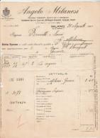 Facture 31/8/1917 ANGELO MILANESI Impresa Trasporti Marttimi E Terrestri MILANO - - Italie
