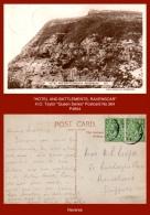 "P4904  ""HOTEL AND BATTLEMENTS, RAVENSCAR""  (c.1910's. B/w Gloss Real Photo Postcard) - England"