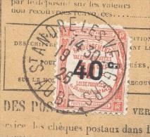 AUBE SAINT ANDRE LES VERGERS 19/01/1926  Bordereau De Recouvrement 1 Valeur Impayé Taxe 40 C  TTB - Marcophilie (Lettres)