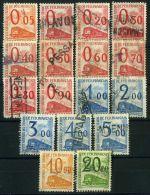 FRANCE ( COLIS  POSTAUX  1960 ) : Y&T N°  31/47  TIMBRES  BIEN  OBLITERES   , SERIE  A  VOIR .