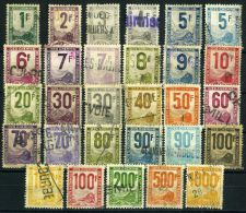 FRANCE ( COLIS  POSTAUX  1944/47 ) : Y&T N°  1/26  TIMBRES  BIEN  OBLITERES   , SERIE  A  VOIR .