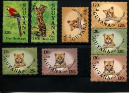 POSTFRIS MINT NEVER HINGED POSTFRISCH EINDWANDFREI Yvert 1111 Tot 1118 Katten Chat Birds Vogels - Guyane (1966-...)