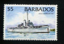 POSTFRIS MINT NEVER HINGED POSTFRISCH EINDWANDFREI Yvert 940 Schip Champlain 1931 - Barbados (1966-...)