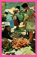 "Bolivia - Cochabamba - Native Woman Selling Vegetables At "" La Cancha "" Market - Editores LA JUVENTUD - Couleurs - Bolivia"