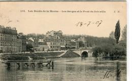 CPA 94  LES BERGES ET LE PONT DE JOINVILLE 1907 - Joinville Le Pont
