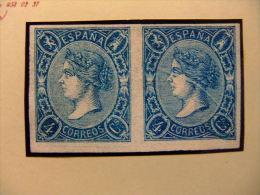 España Spain 1865 ISABEL II Edifil Nº NE 2  Yvert Nº 66 Sin Goma MUY RARO  Cert.GRAUS - Nuevos