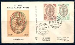 1956  ITALIA ONU Busta FDC - F.D.C.