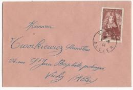 1944 - YVERT N°600 SEUL Sur ENVELOPPE Avec OBLITERATION Du DERNIER JOUR D´EMISSION : 9 JUIN - Marcophilie (Lettres)