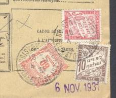 SEINE ET OISE SOISSY 04/11/1931 Bordereau De Recouvrement 1 Valeur Impayé Taxe 1 Frs  TTB - Postmark Collection (Covers)