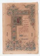 CAPOLETTERA  A MANO SU CARTONCINO LETTERA F FRASE F.D.GUERRAZZI LIVORNO  LA VITA COME L´ACQUA... SANTA TERESA 1904 - Manuscripts
