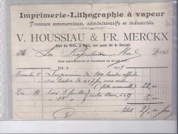Imp.-Lithogr. V Houssiau & Fr. Merckx  1909 - Imprimerie & Papeterie