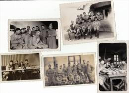 35 EME REGIMENT - LOT DE 5 PHOTOS MILITAIRES - Guerre, Militaire