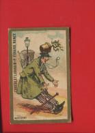 PRIX FIXE CHOCOLAT LORRAIN NANCY EVRARD  CHROMO HOMME POT FLEURS ACCIDENT REVERBERE - Trade Cards