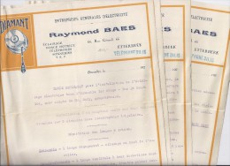 Raymond Baes - Etterbeek - Devis Estimatif 1925 - Electricity & Gas