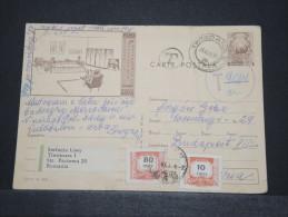ROUMANIE - Entier Taxé Pour Budapest Hongrie - Avril 1968 - A Voir - P16757